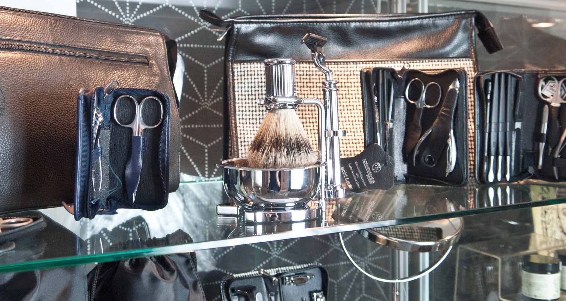 Male Grooming Product Display