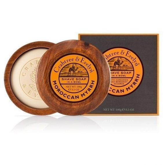 moroccan myrrh shave soap bowl