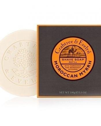 moroccan myrrh shave soap refill