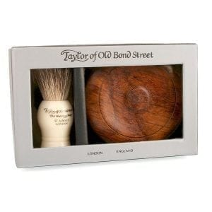 Taylors of Bond Street Sandalwood Set with Wooden Shaving Bowl