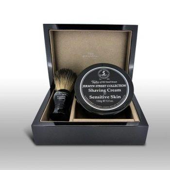 Taylors Luxury Wooden Shaving Gift Set Jermyn Street (Sensitive Skin)