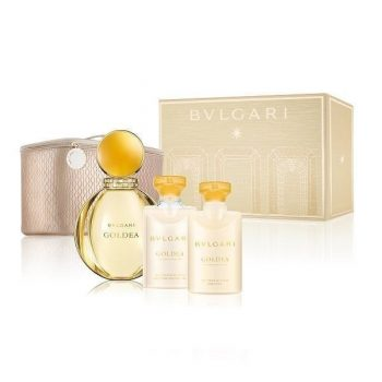 Bvlgari Goldea Gift Set EDP 90ml +Body Lotion 75ml +Shower Gel 75ml +Pouch