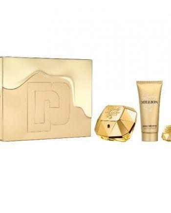 Paco Rabanne Lady Million Gift Set 80ml + 100ml Body Lotion + 5ml Mini