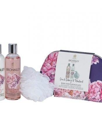 Bronnley Pink Peony Rhubarb Gift Set