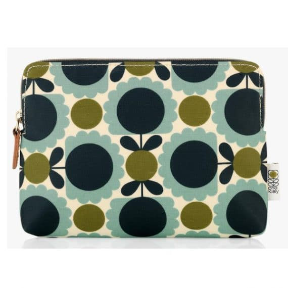 orla kiely scallop flower cosmetic bag