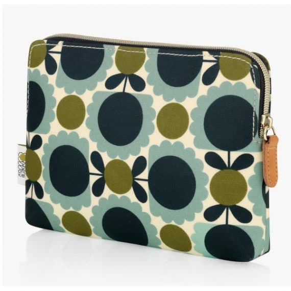 orla kiely scallop flower cosmetic bag side