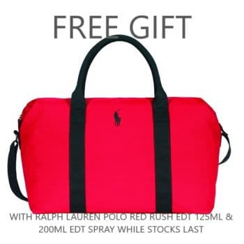 Polo Red Rush Duffle Bag Text