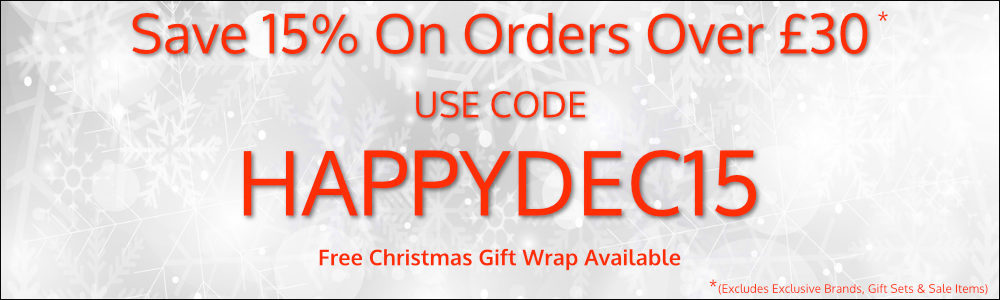 Save 15% With Code happydec15