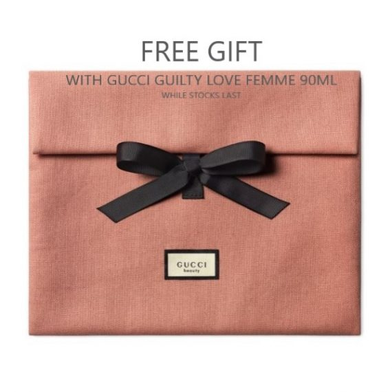 Gucci Guilty Love Femme Pouch GWP Text