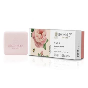 bronnley rose soap 3 x 100g