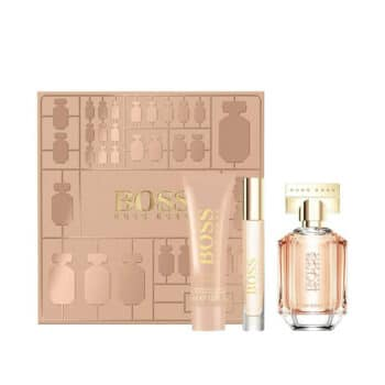 Boss The Scent For Her 50ml EDP Set (inc Travel Size & Body Lotion) 3