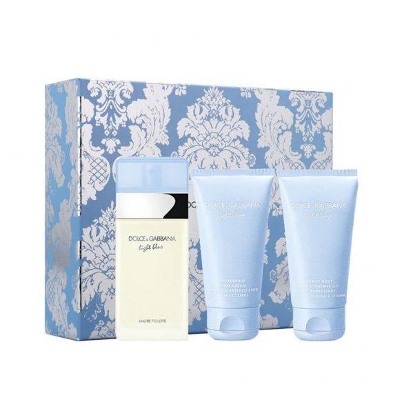 D&G Light Blue EDT 50ml Gift Set (inc. Body Cream & Bath and Shower Gel) 2