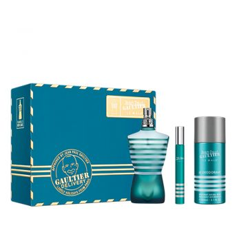 Jean Paul Gaultier Le Male EDT 125ml Gift Set (plus 150ml Deodorant Spray & 10ml Travel Size)