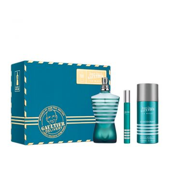 Jean Paul Gaultier Le Male EDT 75ml Gift Set (plus 150ml Deodorant Spray & 10ml Travel Size)