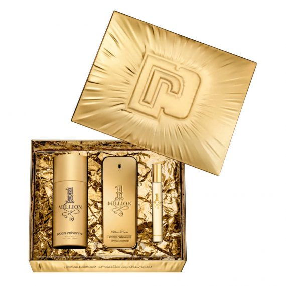 Paco Rabanne 1 Million 100ml Gift Set (plus 150ml Deodorant Natural Spray & 10ml Travel Size) 2