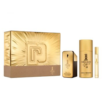 Paco Rabanne 1 Million EDT 50ml Gift Set (plus 150ml Deodorant Natural Spray & 10ml Travel Size) 3