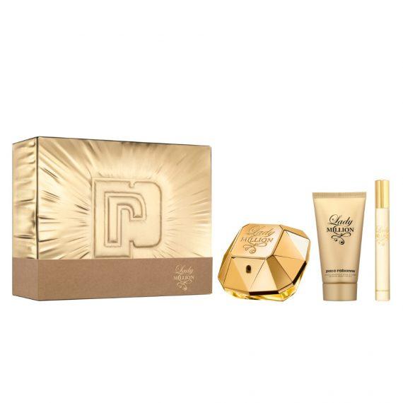 Paco Rabanne Lady Million 50ml Gift Set (plus 75ml Body Lotion & 10ml Travel Size) 1