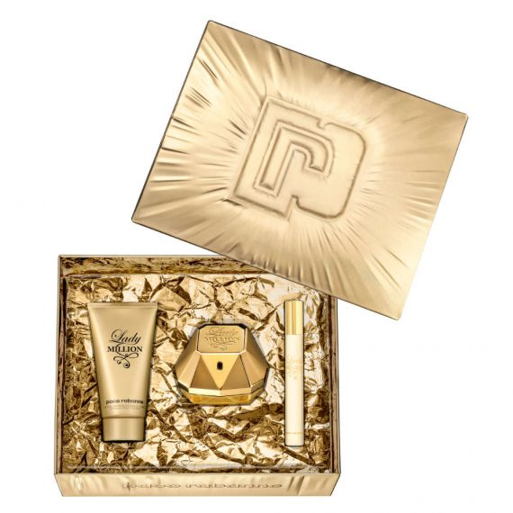 Paco Rabanne Lady Million 50ml Gift Set (plus 75ml Body Lotion & 10ml Travel Size) 3