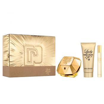 Paco Rabanne Lady Million 80ml Gift Set (plus 100ml Body Lotion & 10ml Travel Size) 2
