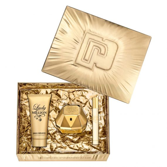 Paco Rabanne Lady Million 80ml Gift Set (plus 100ml Body Lotion & 10ml Travel Size) 3