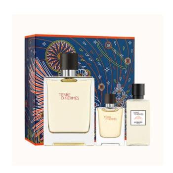 Terre d'Hermes 100ml Set (inc Miniature & Aftershave Lotion) 1