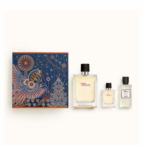 Terre d'Hermes 100ml Set (inc Miniature & Aftershave Lotion) 2