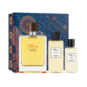 Terre d'Hermes Eau Intense Vetiver 100ml Set (inc Hair and Body Shower Gel & Aftershave Lotion) 1