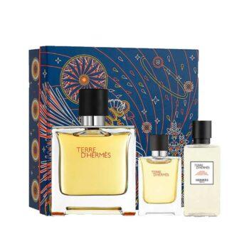 Terre d'Hermes Parfum 75ml Set (inc Miniature & Aftershave Lotion) 1