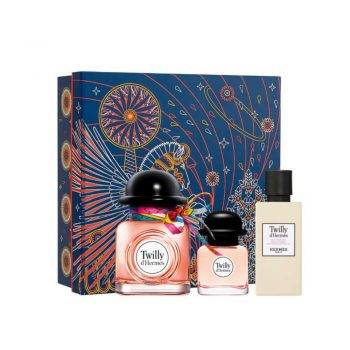 Twilly d'Hermes 50ml Set (inc Miniature & Body Lotion)