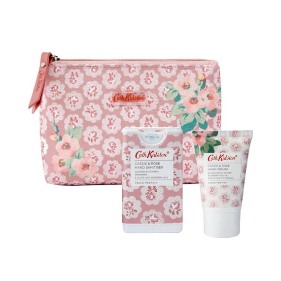 Cath Kidston Cassis Rose Cosmetic Pouch Set