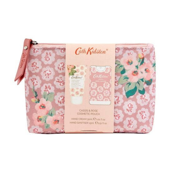 Cath Kidston Cassis Rose Cosmetic Pouch Set1