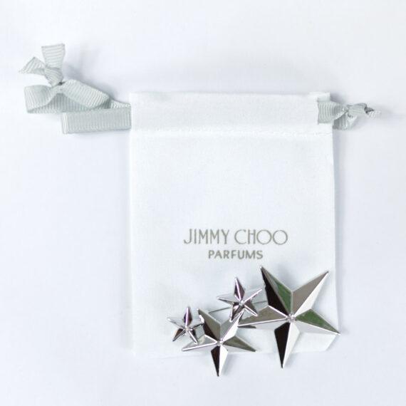Jimmy Choo Silver Stars Brooch