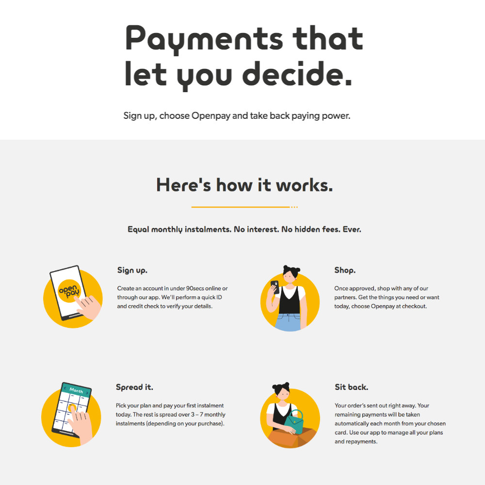 Openpay payment options