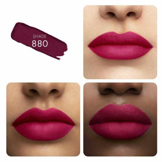 Guerlain KissKiss Tender Matte Lipstick 880 Caress Plum