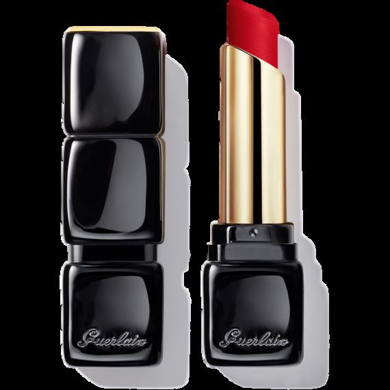 Guerlain KissKiss Tender Matte Lipstick 910 Wanted Red