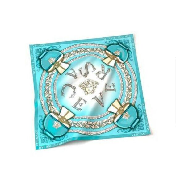 Versace Dylan Turquoise Silk Scarf